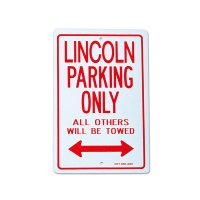 """Parking Signboard """"LINCOLN"""""""
