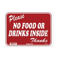 Please NO FOOD OR DRINKS INSIDE Thanks