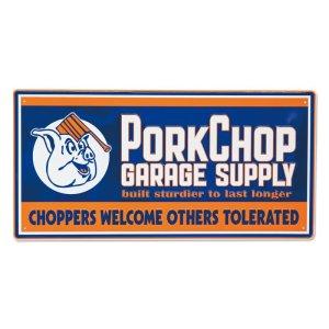 Photo1: PORKCHOP Choppers Metal Sign