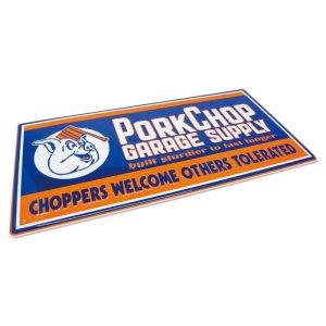 Photo2: PORKCHOP Choppers Metal Sign