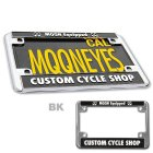 Additional Images2: California Motorcycle License Plate - Black