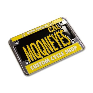 Photo5: California Motorcycle License Plate - Black