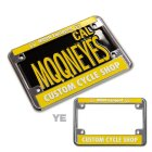 Additional Images1: California Motorcycle License Plate - Black