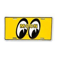 MOONEYES California Steel License Plates Yellow Eyes