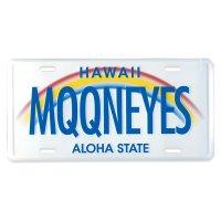MOONEYES Hawaii License Plate