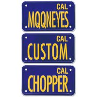 California Motorcycle License  Plate - Blue