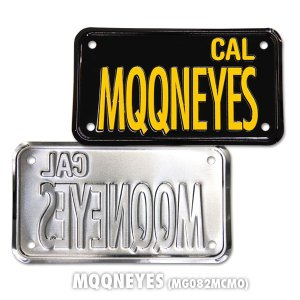 Photo2: California Motorcycle License Plate - Black