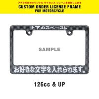 Original Custom License Plate Frame Carbon Fiber Look for Motorcycle