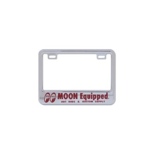 Photo2: 【50cc〜125cc】MOON Equipped License Plate Frame for Small Motorcycle Chrome