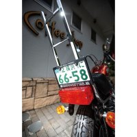 MOONEYES THE REAL THING! License Plate Frame for Motorcycle【for 126cc UP】