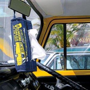 Photo1: MOON Bus Denim Tissue Cover