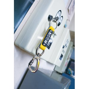 Photo2: MOON Lock Carabiner Leather Key Ring