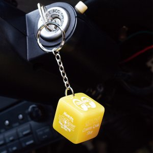 Photo1: MOON Dice Key Ring