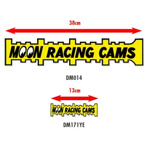 Photo2: MOON Racing Cams Sticker Large