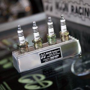 Photo1: MOON Fuel Block Spark Plug Stand