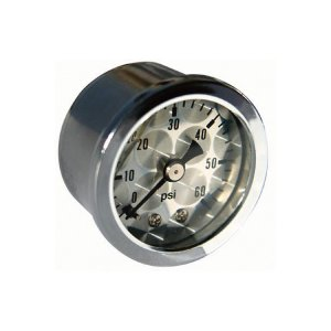 Photo1: Direct Mount Pressure Gages Engine-Turned Facia Face (0-60psi)