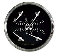 MOON Equipped 4 5/8inch QUAD Gauge   (Black)