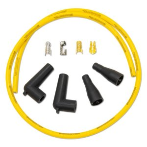 Photo1: MOONEYES YELLOW Silicon Spark Plug Wire set for H-D