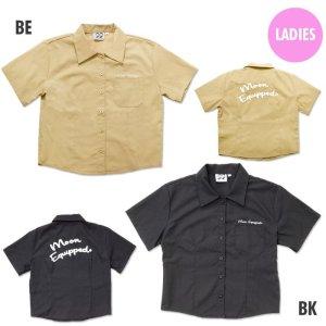 Photo2: MOON Equipped Ladies Work Shirt (Short)