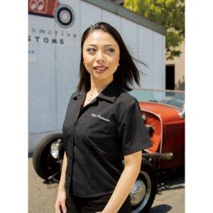 Photo1: MOON Equipped Ladies Work Shirt (Short)