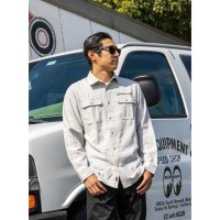 MOON Equipped Solid Flannel Shirt