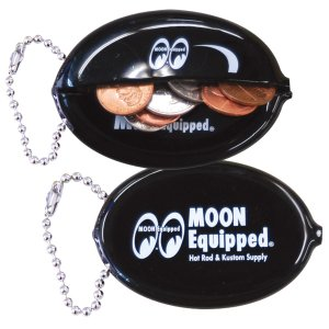 Photo1: MOON Equipped Oval Coin Case