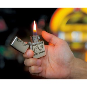 Photo1: MOON Equipped Zippo Lighter