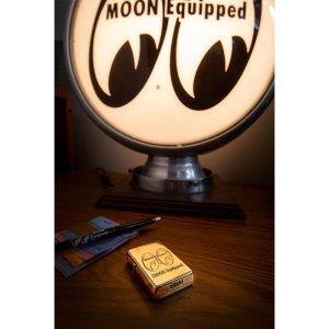 Photo1: MOON Equipped Zippo Lighter (Brass)