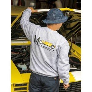 Photo1: MOON Equipped Yellow Roadster Sweatshirt
