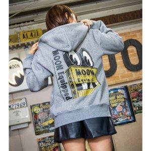 Photo1: MOON Equip. co Sign Zip Hoodie