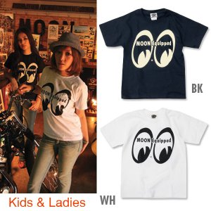 Photo1: MOON Equipped for Girl & Kids T-Shirt