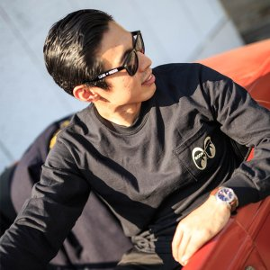 Photo2: MOON Equipped Long Sleeve T-Shirt with Pocket