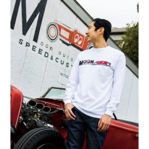 Photo2: MOON Equipped Red Roadster Long Sleeve T-shirt