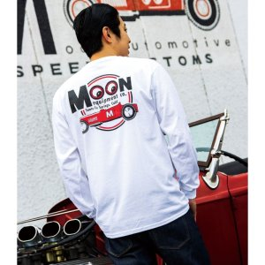 Photo1: MOON Equipped Red Roadster Long Sleeve T-shirt