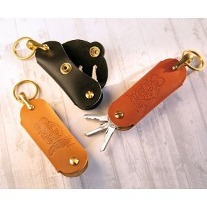 Photo1: Rat Fink Leather Hook Key