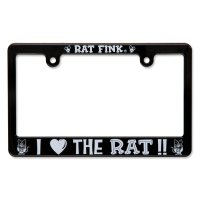 "Rat Fink License Frame for Motorcycle  ""I LOVE THE RAT"""