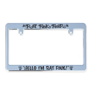 Photo3: Rat Fink Chrome License Frames
