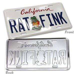 Photo2: Rat Fink California Plate