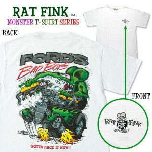 "Photo1: Rat Fink Monster T-Shirt ""FORD Bad Boys"""
