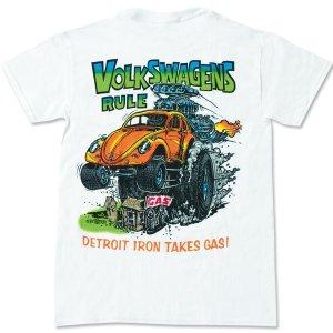 "Photo2: Rat Fink Monster T-Shirt ""Volks Wagens Rule"""