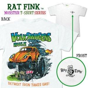 "Photo1: Rat Fink Monster T-Shirt ""Volks Wagens Rule"""