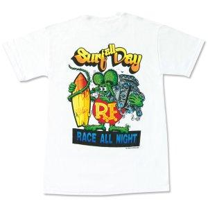 "Photo2: Rat Fink Monster T-Shirt ""Surf all Day"""