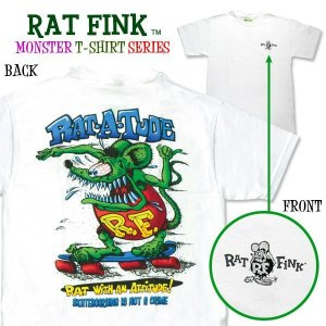 "Photo1: Rat Fink Monster T-Shirt ""Rat-a-Tude"""