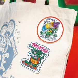 Photo1: Rat Fink Embroidery Patches