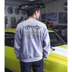 Photo1: MOON Checker Flag Sweat Shirts