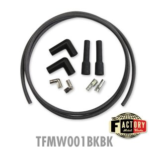 Photo4: TFMW - 7mm Cloth Covered Spark Plug Wire Set