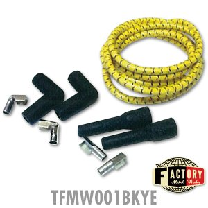 Photo5: TFMW - 7mm Cloth Covered Spark Plug Wire Set