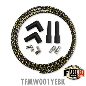 Photo2: TFMW - 7mm Cloth Covered Spark Plug Wire Set