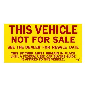 Photo2: Not For Sale Sticker