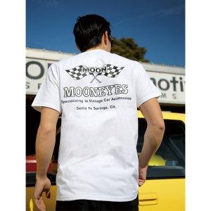 Photo3: MOON Checker Flag T  Shirts